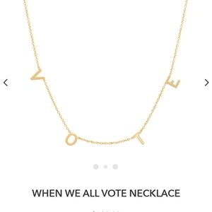When we all vote bychari necklace gold plated